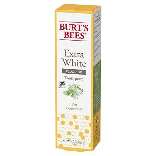 """<p><strong>Burt's Bees</strong></p><p>amazon.com</p><p><strong>$9.99</strong></p><p><a href=""""https://www.amazon.com/dp/B07R23JHJJ?tag=syn-yahoo-20&ascsubtag=%5Bartid%7C10055.g.36933033%5Bsrc%7Cyahoo-us"""" rel=""""nofollow noopener"""" target=""""_blank"""" data-ylk=""""slk:Shop Now"""" class=""""link rapid-noclick-resp"""">Shop Now</a></p><p>Just like the name suggests, this paste promises to remove surface stains to give you a bright smile. """"ADA-approved Burt's Bees toothpastes contain sodium fluoride but are free from sodium lauryl sulfate (which can be irritating to the gums), preservatives, artificial flavors and sweeteners and dyes,"""" says Dr. Regnerus.<br></p>"""