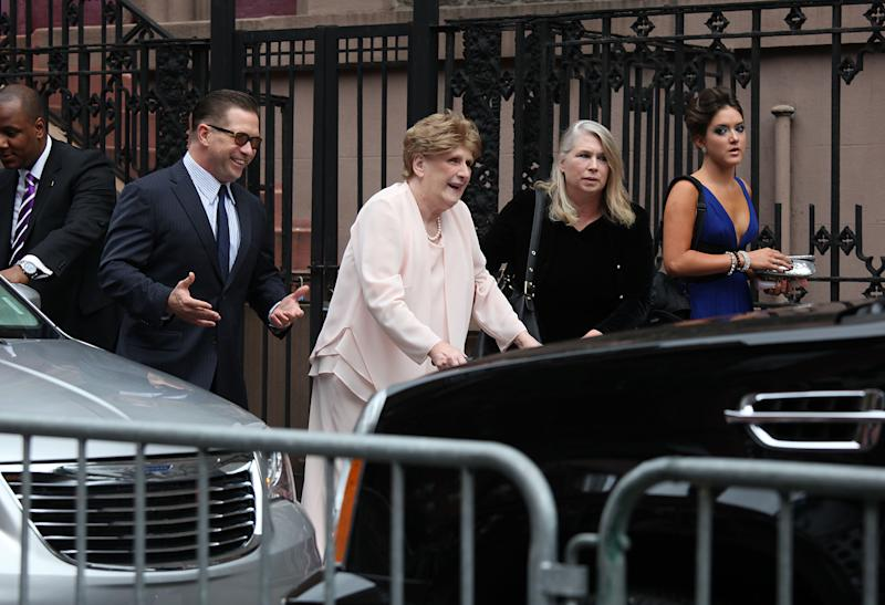 NEW YORK, NY - JUNE 30:  Stephen Baldwin (L) and his mother attend Alec Baldwin and Hilaria Thomas' wedding ceremony at St. Patrick's Old Cathedral on June 30, 2012 in New York City.  (Photo by Rob Kim/Getty Images)