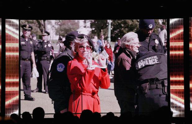 Jane Fonda Accepts BAFTA Award as She's Arrested