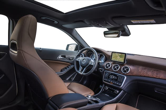 Interior is well-appointed, but lacks headroom.