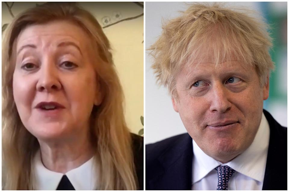 Victoria Borwick, who was one of Boris Johnson's deputies when he was mayor of London, questioned if £30,000 a year is enough to refurbish his flat. (Sky News/Getty Images)