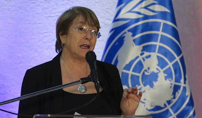 United Nations Human Rights chief Michelle Bachelet warned that some acts of Hong Kong police could run against international norms. Photo: AFP