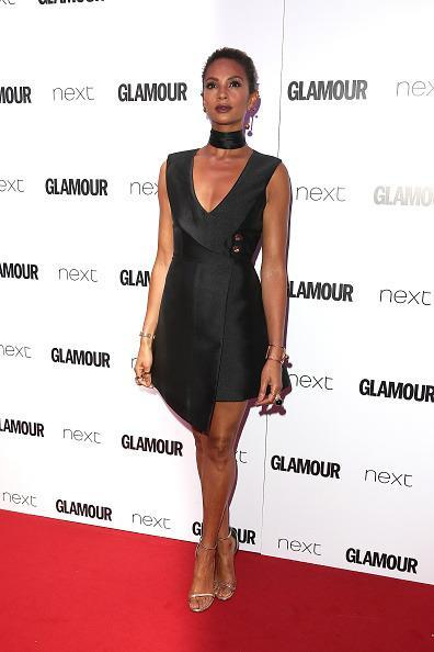 <p>How trendy does Alesha look? She opted for a simple and sleek little black dress and accessorised with a cool choker. <i>[Photo: Fred Duval/FilmMagic]</i></p>