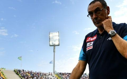 <span>Maurizio Sarri remains favourite to replace Antonio Conte</span> <span>Credit: AFP </span>