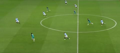 <span>Manchester City were caught on the counter attack against Spurs</span> <span>Credit: Sky Sports </span>