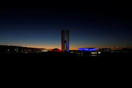 A general view of Brazil's National Congress during sunrise in Brasilia