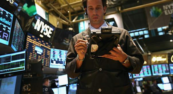 new york stock exchange traders shares fall budget battle