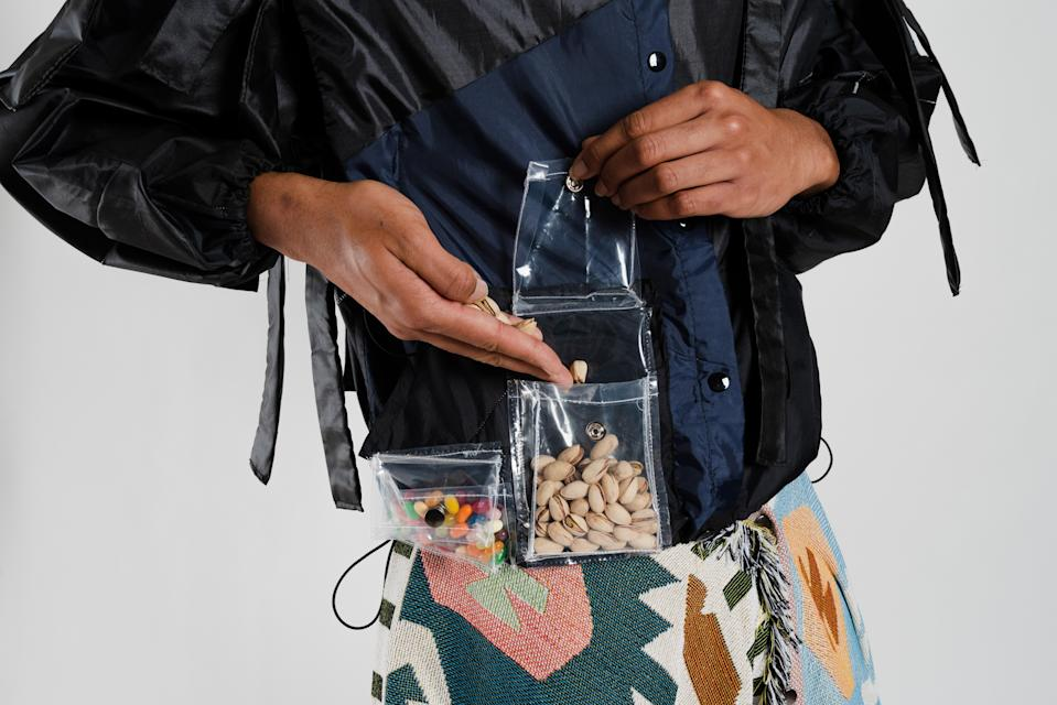 """An ADIFF """"blanket jacket,"""" complete with snack pockets, the pattern for which appears in the brand's new cookbook."""