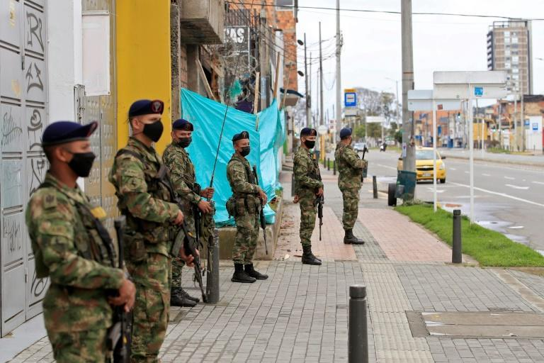 Soldiers patrol the streets in Colombia after anti-government demonstrations, sparking fears of militarization