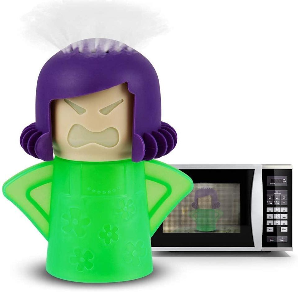 <p>Everyone should invest in this <span>Angry Mama Microwave Cleaner</span> ($10).</p>