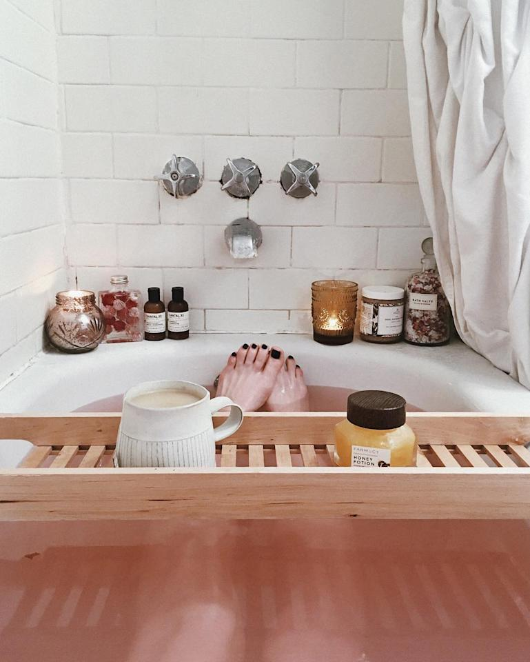 """<h2>Practice Self Care</h2>                                                                                                                                                                 <p><p>Whether it's a pre-bedtime soak or adding a few extra steps to your skincare routine, practice a little self-care to feel nurtured and more confident.</p>                                                                                                                                                                   <h4>@prettylittlefawn</h4>                                                                                                         <p>     <strong>Related Articles</strong>     <ul>         <li><a rel=""""nofollow"""" href=""""http://thezoereport.com/fashion/style-tips/box-of-style-ways-to-wear-cape-trend/?utm_source=yahoo&utm_medium=syndication"""">The Key Styling Piece Your Wardrobe Needs</a></li><li><a rel=""""nofollow"""" href=""""http://thezoereport.com/entertainment/celebrities/jennifer-lawrence-single/?utm_source=yahoo&utm_medium=syndication"""">Jennifer Lawrence Is Now Single Before The Holidays Too</a></li><li><a rel=""""nofollow"""" href=""""http://thezoereport.com/entertainment/celebrities/chrissy-teigen-pregnant-baby-number-two/?utm_source=yahoo&utm_medium=syndication"""">Chrissy Teigen Announced Her Pregnancy With Baby #2 In The Cutest Way</a></li>    </ul> </p>"""