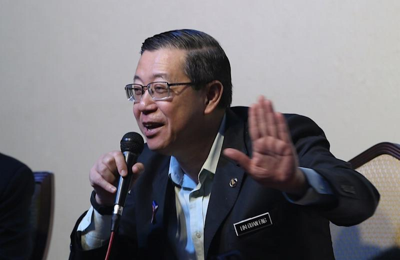 Finance Minister Lim Guan Eng speaks to the press after giving a briefing on the SST in Subang, August 18, 2018. — Picture by Razak Ghazali