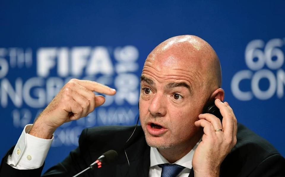 Former UEFA number two Gianni Infantino replaced Sepp Blatter as FIFA president in February (AFP Photo/Alfredo Estrella)