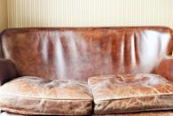 <p>Leather furniture had a resurgence in the '70s and made a real comeback in the early 2000s. While leather is a material that'll never go out of style, the heaviness of an oversized design isn't in fashion anymore.</p>