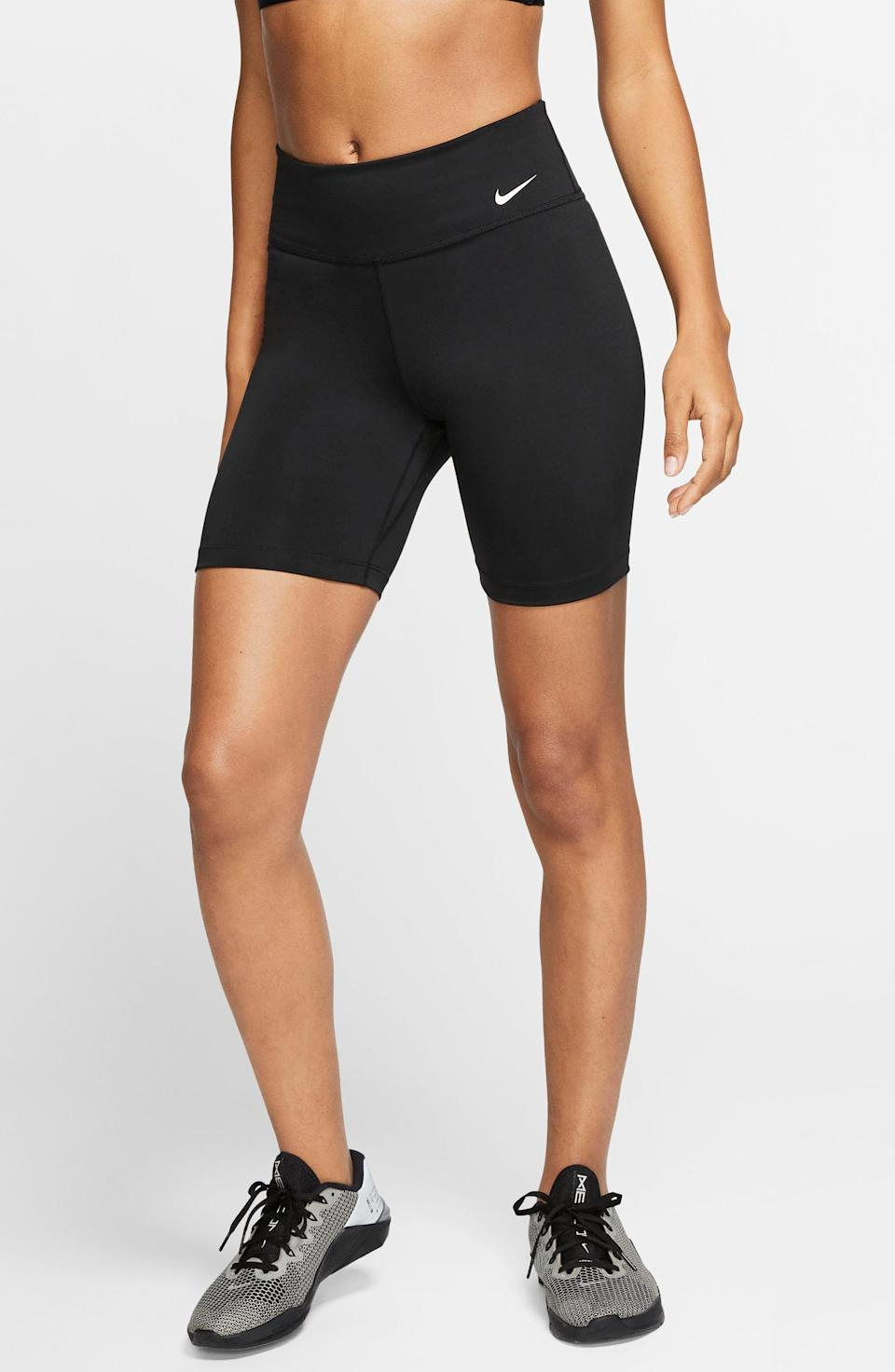 """<p><strong>NIKE</strong></p><p>nordstrom.com</p><p><a href=""""https://go.redirectingat.com?id=74968X1596630&url=https%3A%2F%2Fwww.nordstrom.com%2Fs%2Fnike-one-dri-fit-shorts%2F5449628&sref=https%3A%2F%2Fwww.womenshealthmag.com%2Flife%2Fg33415769%2Fnordstrom-anniversay-sale-preview%2F"""" rel=""""nofollow noopener"""" target=""""_blank"""" data-ylk=""""slk:Shop Now"""" class=""""link rapid-noclick-resp"""">Shop Now</a></p><p>Stock up on some more activewear, like these Nike Dri-FIT shorts, which are so discounted you can't even see the price until you add them to your shopping cart. </p>"""
