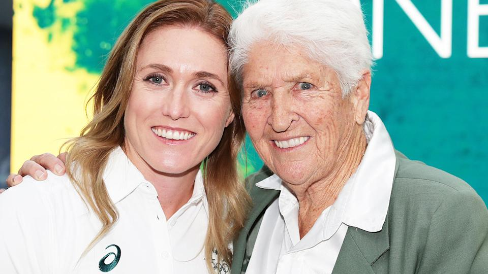 Sally Pearson and Dawn Fraser, pictured here in 2019.