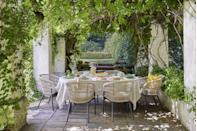 """<p>""""Inspired by the design and culture of southern France, this trend is all about relaxed and sociable outdoor entertaining,"""" John Lewis & Partners say. """"There are plenty of tactile materials, pops of sunny colours and nature inspired tabletop pieces that bring this look to life.""""<br><br>Pour yourself a glass of bubbly and enjoy those long, balmy days...<br></p>"""