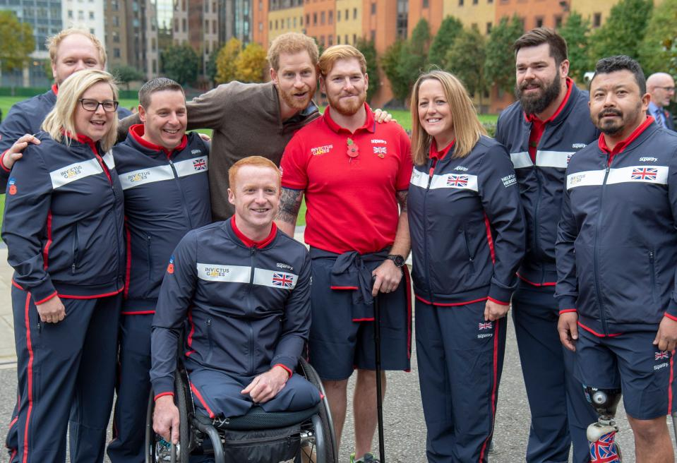 Britain's Prince Harry, Duke of Sussex attends the launch of Team UK, selected for the 'Invictus Games The Hague 2020' at Honourable Artillery Company in  east London on  October 29, 2019. (Photo by Paul Grover / POOL / AFP) (Photo by PAUL GROVER/POOL/AFP via Getty Images)
