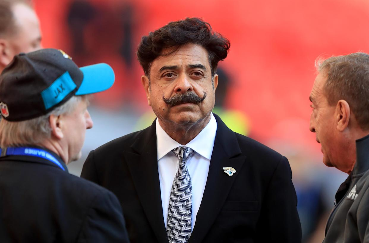Jacksonville Jaguars owner Shad Khan prior to the International Series NFL match at Wembley Stadium, London. (Photo by Simon Cooper/PA Images via Getty Images)