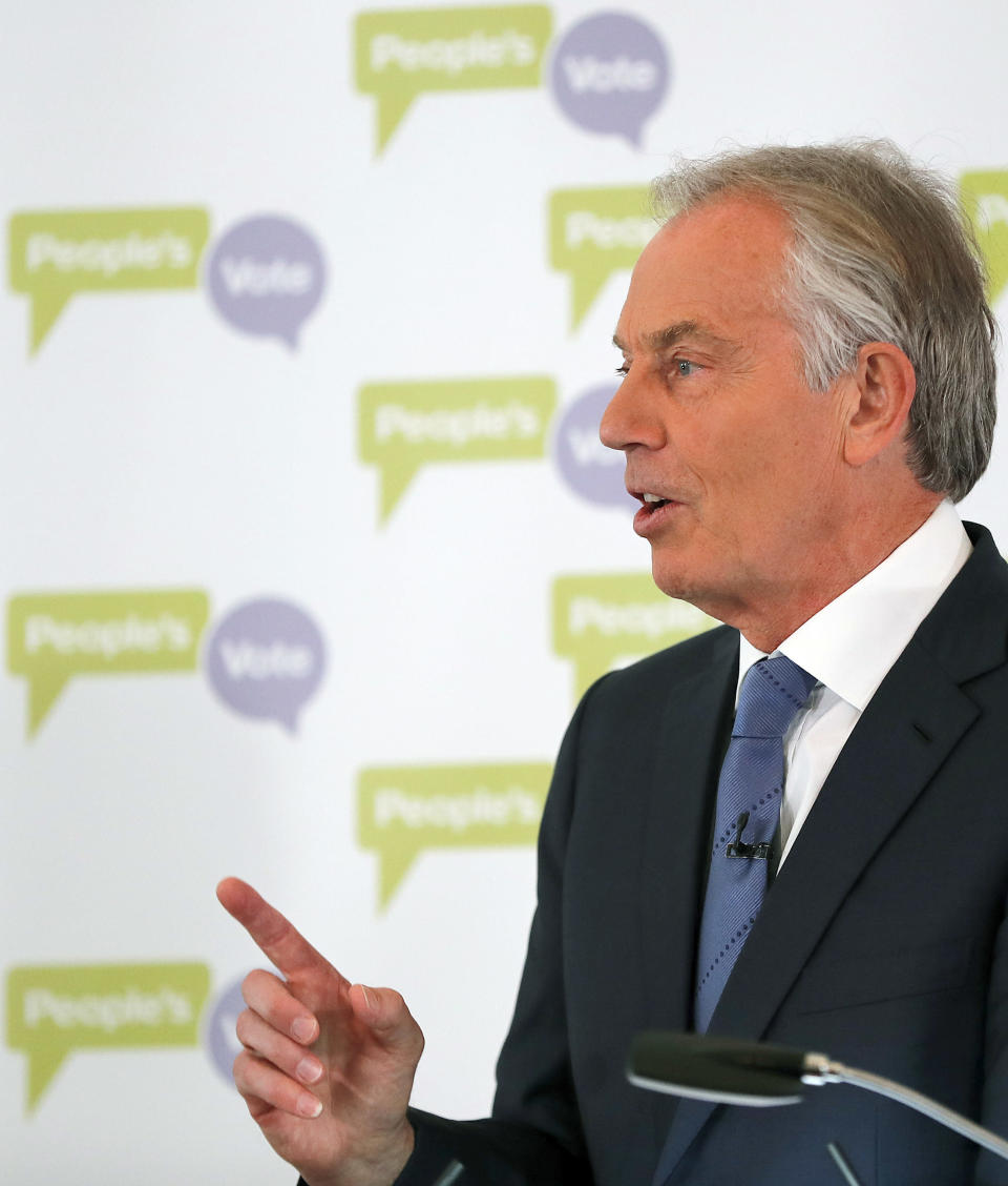Tony Blair was the second most popular choice for the best Prime Minister in the past 30 years. (AP Photo/Frank Augstein)