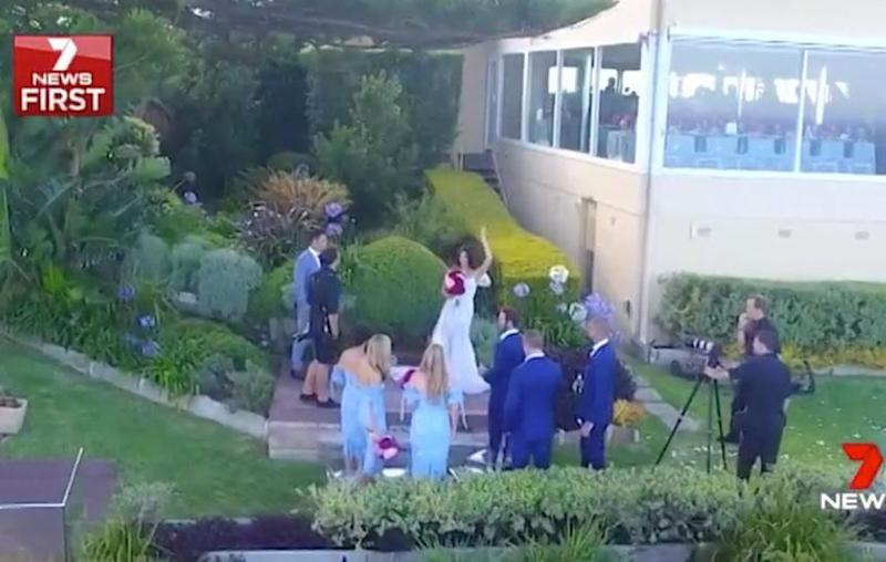 All eyes were on television presenter Tara Rushton on Thursday as she tied the knot with NRL star Cooper Cronk. Source: Channel Seven