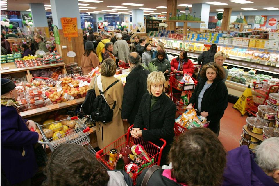 """<p>If you're trying to avoid the notorious lines, shop on Tuesday or Wednesday. According to a <a href=""""https://www.reddit.com/r/IAmA/comments/3kfbyt/iama_mate_manager_at_trader_joes_ask_me_anything/cuwzf4k/"""" rel=""""nofollow noopener"""" target=""""_blank"""" data-ylk=""""slk:Trader Joe's manager on Reddit,"""" class=""""link rapid-noclick-resp"""">Trader Joe's manager on Reddit,</a> those are the best days to get in and out without crowds. Mornings are always quiet as well. </p>"""