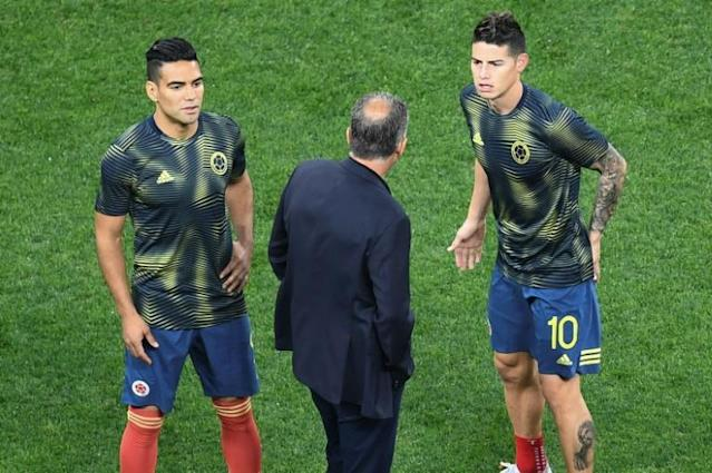 Coach Carlos Queiroz has left Radamel Falcao and James Rodriguez out of the Colombia squad for a pair of friendlies (AFP Photo/EVARISTO SA)