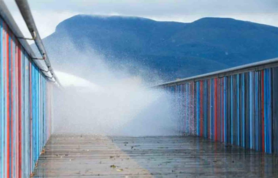 Wild weather lashed at Montrose Bay, Glenorchy in Tasmania on Tuesday.