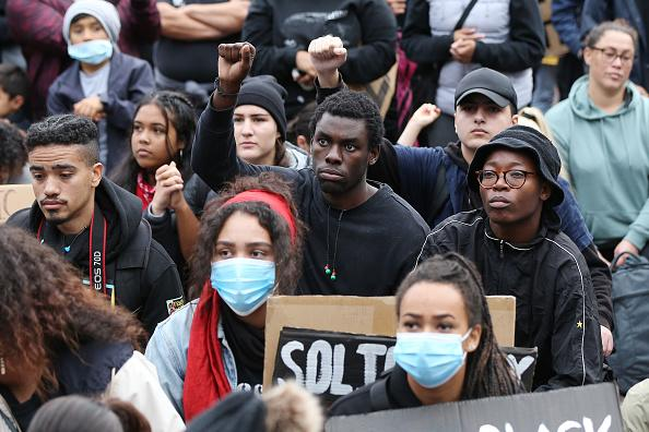 Some 4,000 New Zealand protesters demonstrate against the killing of Minneapolis man George Floyd in a Black Lives Matter protest in Auckland.