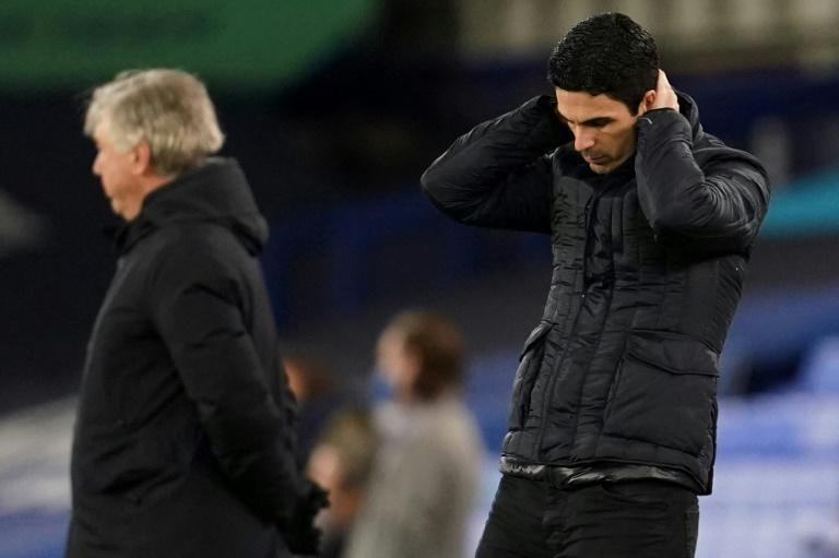 Downward spiral: Mikel Arteta's Arsenal have not won in seven Premier League games