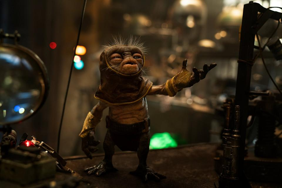 The combination of Neal Scanlan's design and Shirley Henderson's voice made Babu Frik a 'home run' of a 'Star Wars' creature (Photo: Lucasfilm/Walt Disney)