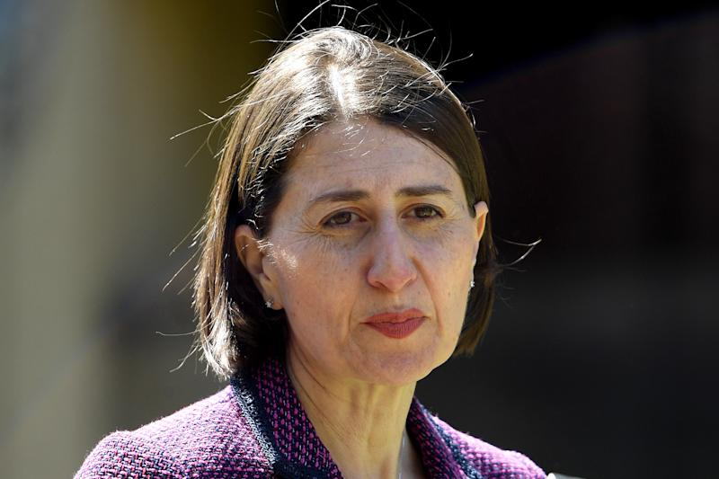 NSW Premier Gladys Berejiklian addresses media during a COVID-19 update at NSW Parliament House in Sydney.