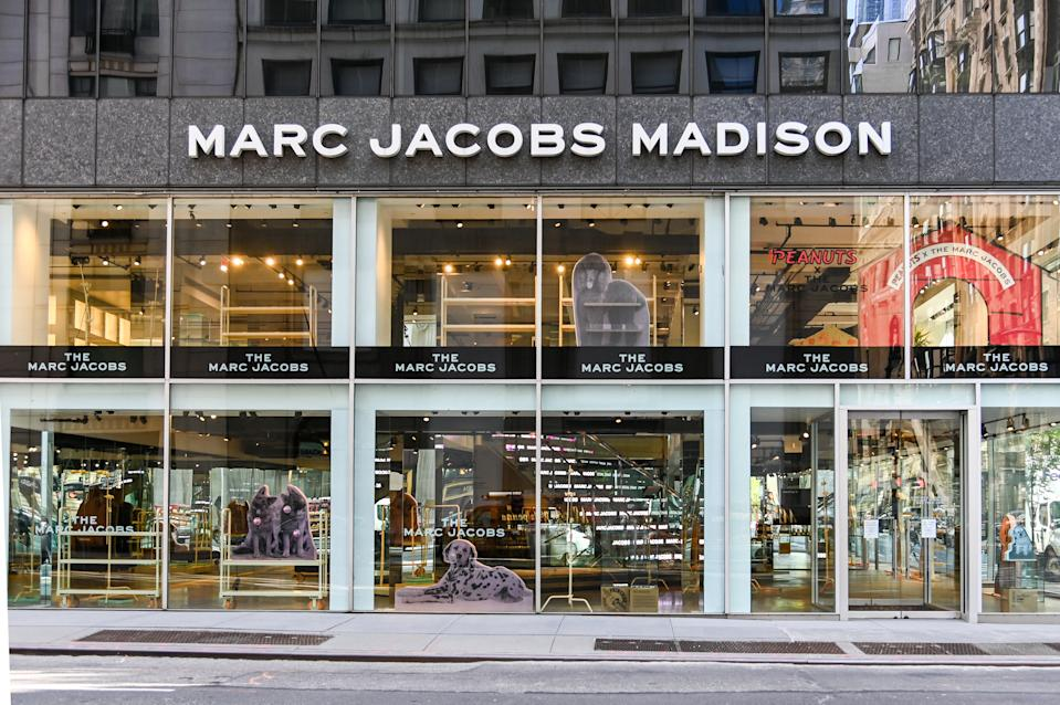 NEW YORK, NEW YORK - MAY 20: Marc Jacobs Madison is closed during the COVID-19 pandemic on May 20, 2020 in New York City. COVID-19 has spread to most countries around the world, claiming over 328,000 lives with infections of over 5 million people. (Photo by Ben Gabbe/Getty Images)