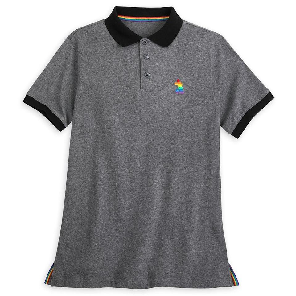 <p>Keep it business professional with the <span>Mickey Mouse Polo Shirt For Adults</span> ($60).</p>