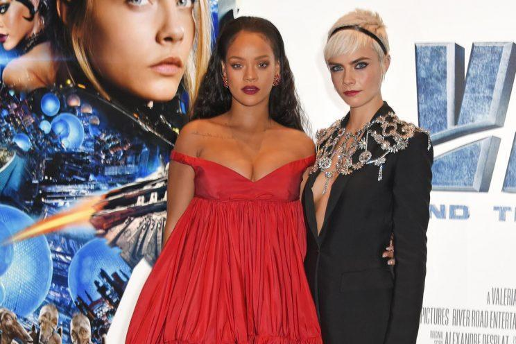 Rihanna and Cara Delevingne are true red carpet queens. (Photo: Getty Images)