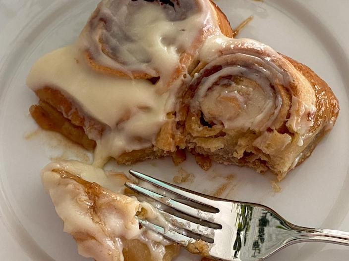 While I couldn't really taste potato in the cinnamon rolls, the addition definitely changed up the texture. (Terri Peters)