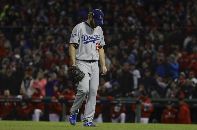 Neither Clayton Kershaw or Chris Sale made it out of the fifth inning in Game 1 of the World Series. (AP)