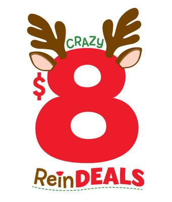 """To kick off the countdown to Christmas, Build-A-Bear Workshop® today announced eight days of deals happening Dec. 1 – 8 as part of the experiential retailer's Crazy 8 """"ReinDEALS"""" event. On each day, from Dec. 1 – 8, a selection of furry friends—including some of the hottest licensed characters—as well as select clothing items will be $8 each, plus applicable taxes, while supplies last."""
