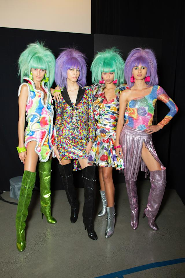 Backstage at the Jeremy Scott SS20 show during New York Fashion week on Friday, September 6th, 2019. Photograph by Serichai Traipoom for W Magazine.