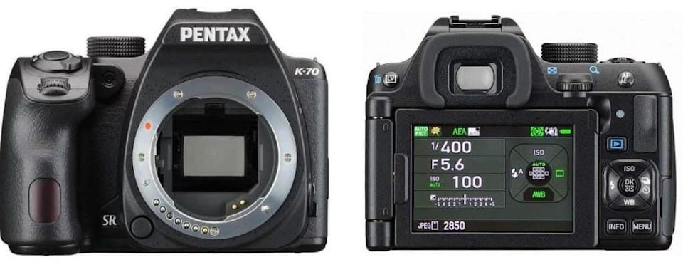 Pentax K-70 DSLR Body with Free Accessories, Black