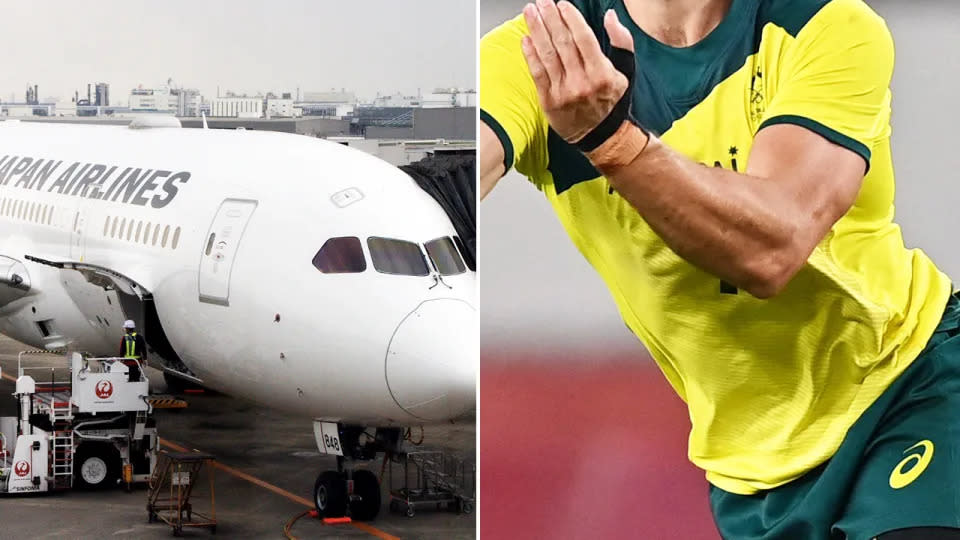 The Aussie athletes are under investigation over their behaviour on a flight home from the Tokyo Olympics. Image: Getty