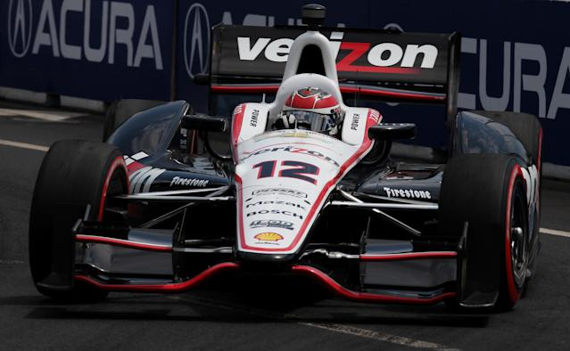 TORONTO, ON - JULY 08: Will Power of Australia, drives the #12 Verizon Team Penske Chevrolet during the IZOD INDYCAR Series Honda Indy Toronto on July 8, 2012 in Toronto, Canada. (Photo by Nick Laham/Getty Images)
