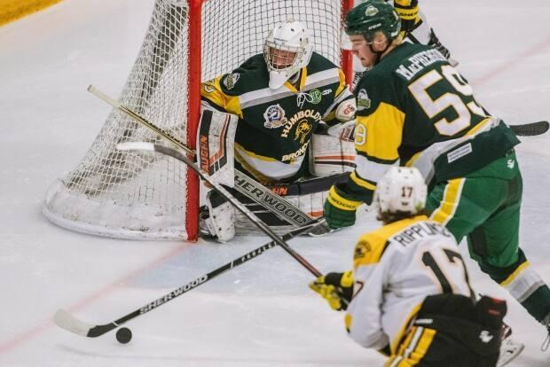 The SJHL was only able to play a handful of games last November before it was shut down.  (Matt Smith/The Canadian Press - image credit)