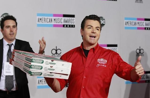 John Schnatter, CEO of Papa John's, at the 2011 American Music Awards. (Reuters)
