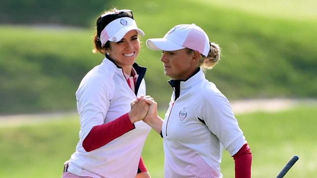 "Stacy Lewis and Gerina Piller cleverly confirmed their pairing as ""Team Baby Mommas"" at next month's inaugural Dow Great Lakes Bay Invitational."