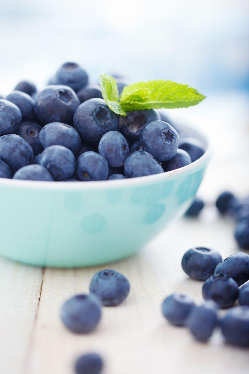 "<p>Some studies have connected <a href=""https://www.goodhousekeeping.com/health/diet-nutrition/a20916472/blueberries-nutrition/"" rel=""nofollow noopener"" target=""_blank"" data-ylk=""slk:eating blueberries"" class=""link rapid-noclick-resp"">eating blueberries</a> regularly with decreased blood pressure. That's thanks to their circulation-boosting effect on blood vessels (otherwise known as ""vasodilation""), which slows the rate of atherosclerosis. </p>"