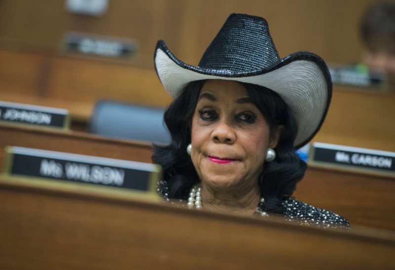 Democrat representative Frederica Wilson said she heard part of Mr Trump's call to a grieving widow (Picture: Rex)