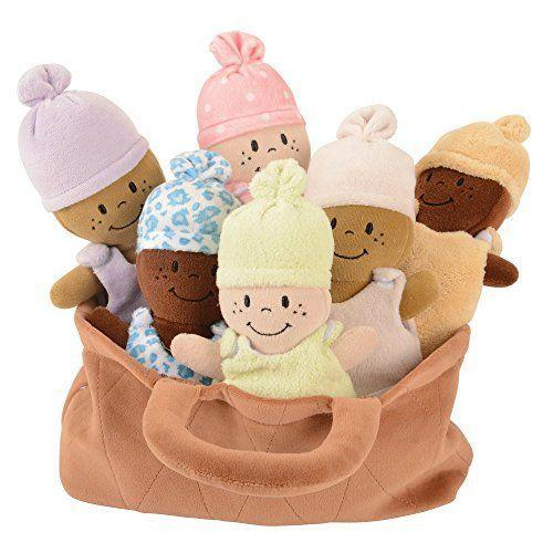 "<p><strong>Basket of Babies</strong></p><p>amazon.com</p><p><strong>$32.99</strong></p><p><a href=""https://www.amazon.com/dp/B0008ELXRM?tag=syn-yahoo-20&ascsubtag=%5Bartid%7C10055.g.33234635%5Bsrc%7Cyahoo-us"" rel=""nofollow noopener"" target=""_blank"" data-ylk=""slk:Shop Now"" class=""link rapid-noclick-resp"">Shop Now</a></p><p>Why snuggle one baby doll when you can snuggle six? The dresses on these diverse dolls are removable, so your kids can care for them by rocking them, hugging them, and getting them all dressed. <em>Ages: all ages</em></p>"