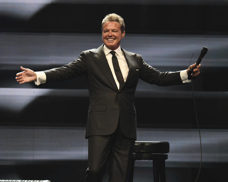 SUNRISE FL - JUNE 22: Luis Miguel performs at The BB&T Center on June 22, 2019 in Sunrise, Florida. Credit: mpi04/MediaPunch /IPX