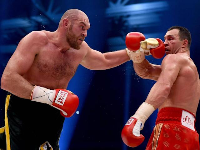 Klitschko's run was ended in shocking fashion by Tyson Fury (Getty )
